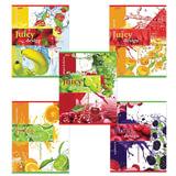 Тетрадь 48 л., HATBER, клетка, обложка мелованный картон, «Juicy Design» («Фрукты»)