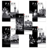 Тетрадь 60 л., HATBER, клетка, обложка мелованный картон, «Париж», 60Т5B1