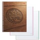 Тетрадь 80 л., HATBER, 7БЦ, 2-х цветная, гребень, клетка, «Гербовая печать»