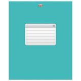 Тетрадь 96 л., HATBER VK, клетка, обложка мелованный картон, «ТЕТРАДЬ — Бирюза»