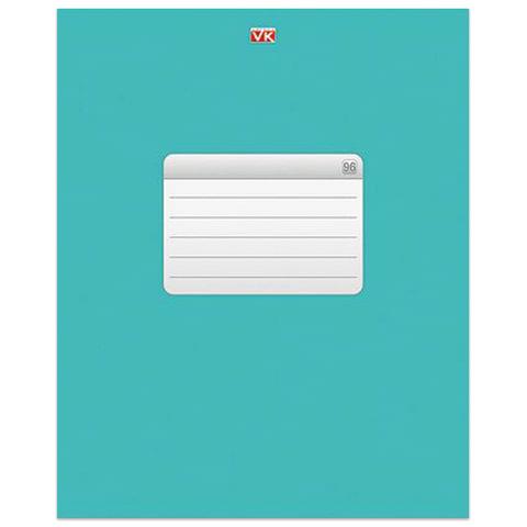 """Тетрадь 96 л., HATBER VK, клетка, обложка мелованный картон, """"ТЕТРАДЬ - Бирюза"""", 96Т5C1 12532"""