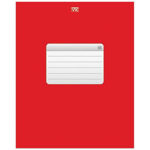 Тетрадь 96 л., HATBER VK, клетка, обложка мелованный картон, «ТЕТРАДЬ — Красная»
