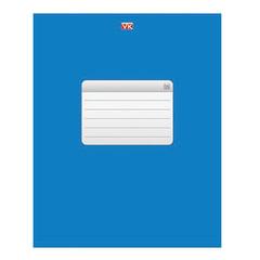 Тетрадь 96 л., HATBER VK, клетка, обложка мелованный картон, «ТЕТРАДЬ — Синяя», 96Т5C1 12534