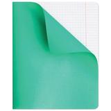 Тетрадь 96 л., HATBER, клетка, полимерная обложка, «Зеленая»