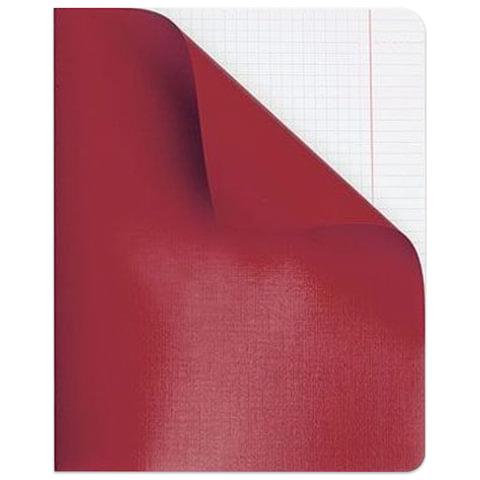 Тетрадь 96 л., HATBER, клетка, полимерная обложка, «Красная»