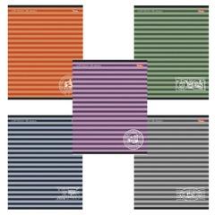 Тетрадь 96 л., HATBER, линия, обложка мелованный картон, «Полосочки», 96Т5B2