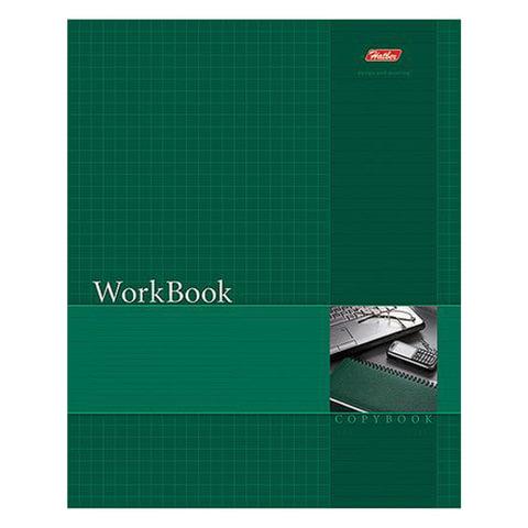 Тетрадь 96 л., HATBER, сшито-клееная, клетка, тиснение, «WorkBook — Зеленая»