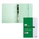 Тетрадь на кольцах, 120 л., HATBER, пластиковая обложка, «DIAMOND-зеленая»
