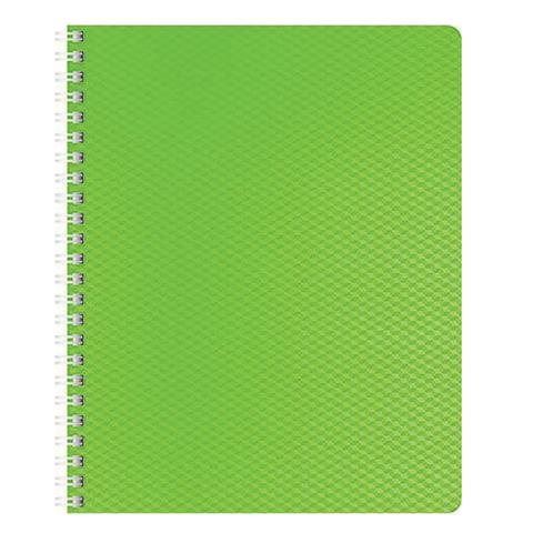 Тетрадь 80 л., А4 HATBER, гребень, клетка, пластиковая обложка, DIAMOND НЕОН-зеленая, 80Т4B1гр 02034