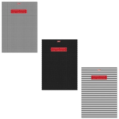 Тетрадь 80 л., А4 HATBER, клетка, обложка мелованный картон, Classic Style