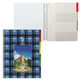 Тетрадь 120 л., А4, HATBER, 7БЦ, 4-х цветный внутренний блок, спираль, клетка, «Шотландка»