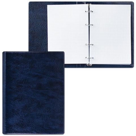 Тетрадь на кольцах, 90 л., А5, 140×205 мм, обложка ПВХ, клетка, синяя,« ДПС»