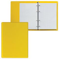 Тетрадь на кольцах, 90 л., А5, 140×205 мм, обложка ПВХ, клетка, желтая, «ДПС»