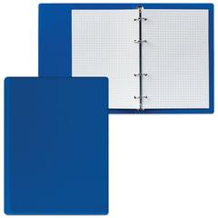 Тетрадь на кольцах, 90 л., А5, 140×205 мм, обложка ПВХ, клетка, голубая, «ДПС»