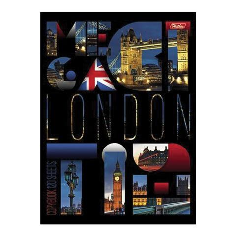 Тетрадь на кольцах, 120 л., HATBER, ламинированная обложка, «London»