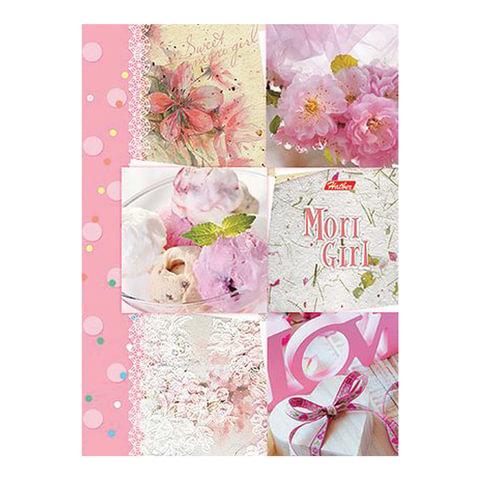 Тетрадь на кольцах, 120 л., HATBER, ламинированная обложка, «Sweet mori girl» («Цветы»)
