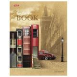 Тетрадь на кольцах, 120 л., HATBER, ламинированная обложка, «Книжный город», 120ТК5В1 14123