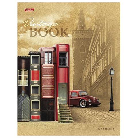 Тетрадь на кольцах, 120 л., HATBER, ламинированная обложка, «Книжный город»