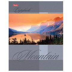 Тетрадь на кольцах, 240 л., HATBER, ламинированная обложка, «Горное озеро», 240ТК5В1 13738