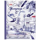 Тетрадь на кольцах, 240 л., HATBER, ламинированная обложка, «Рисунки чернилами», 240ТК5В1 14095