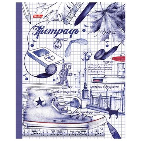 Тетрадь на кольцах, 240 л., HATBER, ламинированная обложка, «Рисунки чернилами»