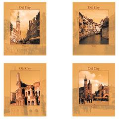 Тетрадь 96 л. STAFF, офсет №2, 60 г/<wbr/>м<sup>2</sup>, клетка, обложка мелованный картон, «Города»