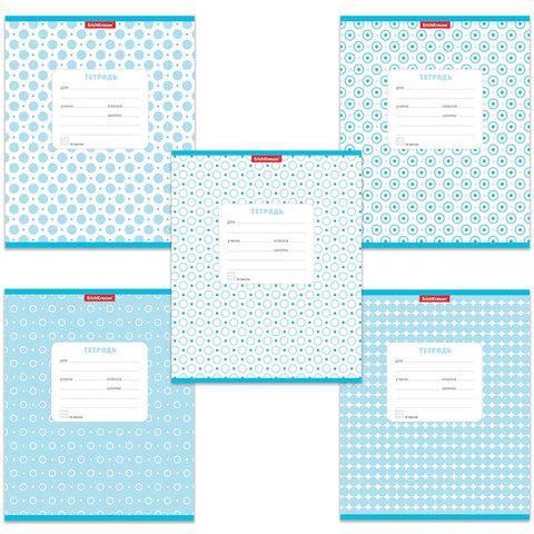 Тетрадь 18 л., ERICH KRAUSE, клетка, обложка мелованный картон, «Горошек голубой»