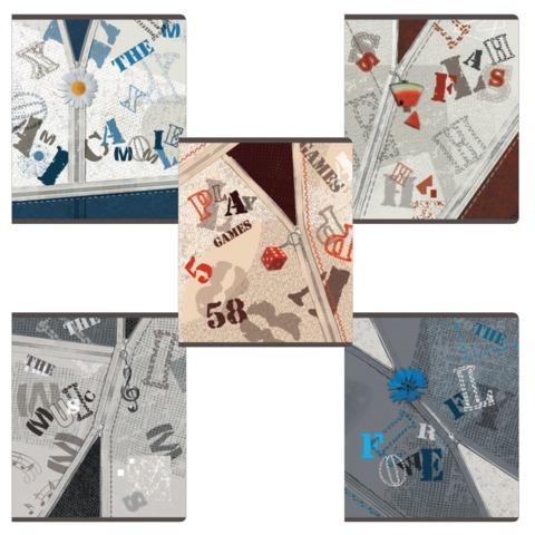 Тетрадь 48 л., ERICH KRAUSE, клетка, обложка мелованный картон, «Брелок»