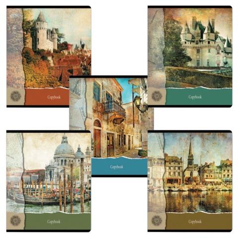 Тетрадь 96 л., ERICH KRAUSE, клетка, обложка мелованный картон, «С видом на замок»