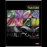 Тетрадь на кольцах, 240 л., HATBER, ламинированная обложка, «Multicolor» («Цветы»)
