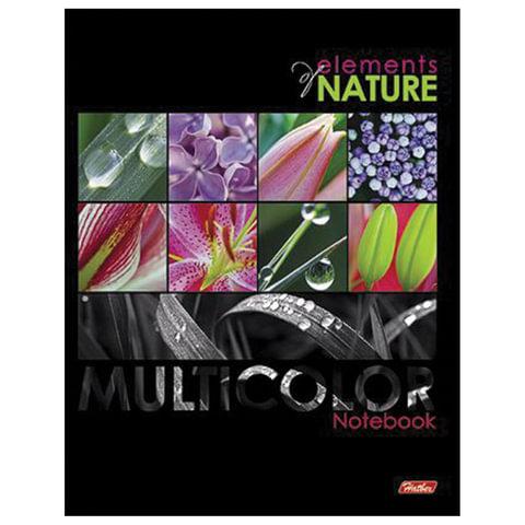 """Тетрадь на кольцах, 240 л., HATBER, ламинированная обложка, """"Multicolor"""" (""""Цветы""""), 240ТК5В1 14439"""