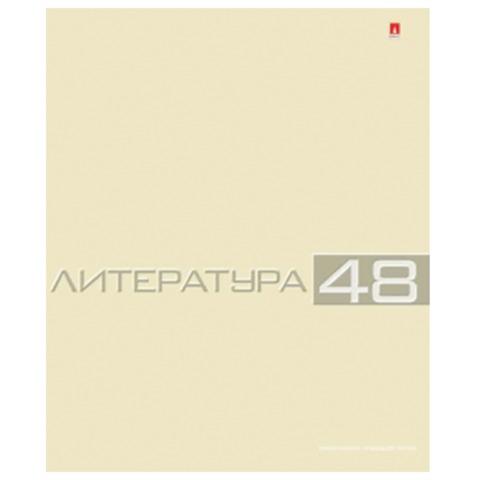 Тетрадь предметная «Альт», 48 л., конгрев, «Классика», ЛИТЕРАТУРА, линия