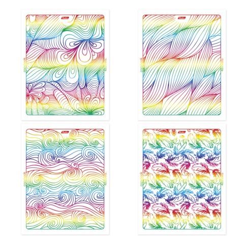 Тетрадь 48 л., HATBER, клетка, тиснение фольгой, «Rainbow»