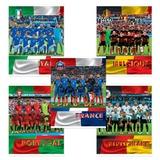 Тетрадь 48 л., HATBER, клетка, мелованный картон обложка, «Футбол — Лучшие сборные Европы»