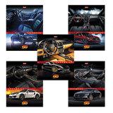 Тетрадь 48 л., HATBER, клетка, обложка мелованный картон, «Super car»