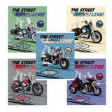 Тетрадь 48 л., HATBER (VK), клетка, обложка мелованный картон, «Мотоциклы»