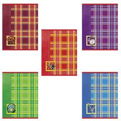 Тетрадь 18 л., HATBER VK, клетка, мелованный картон обложка, «Шотландка», 18Т5С1
