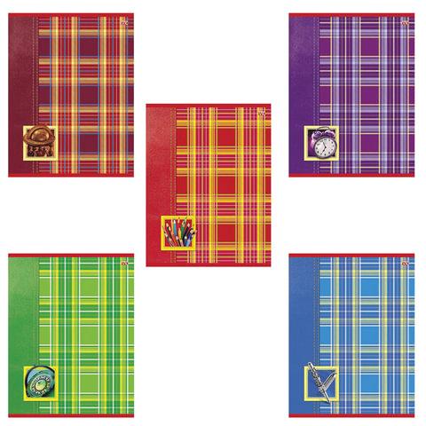 """Тетрадь 18 л., HATBER VK, клетка, мелованный картон обложка, """"Шотландка"""", 18Т5С1"""