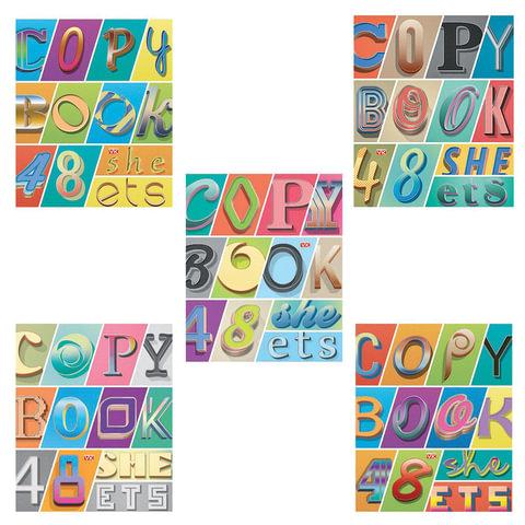 """Тетрадь 48 л., HATBER VK, линия, обложка мелованный картон, """"Copybook"""", 48Т5С2"""