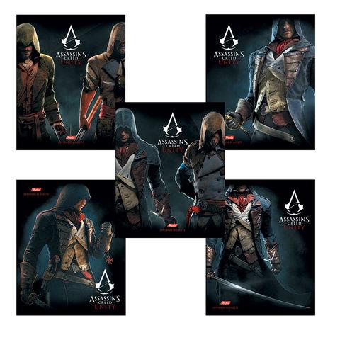"""Тетрадь 96 л., HATBER, клетка, обложка мелованный картон, """"Assassin's Creed"""", 96Т5В1"""