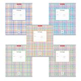 Тетрадь 24 л., ERICH KRAUSE, клетка, мелованный картон обложка, «Новая шотландка»
