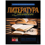 Тетрадь предметная, HATBER VK, 48 л., мелованный картон, «Classic», ЛИТЕРАТУРА, линия, 48Т5Cd2 15850