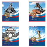 Тетрадь 48 л. BRAUBERG «ЭКО», клетка, обложка мелованный картон, «История России»
