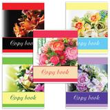 Тетрадь 48 л. BRAUBERG, клетка, выборочный лак, «Изящные цветы» (5 видов)