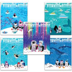Тетрадь 48 л. АЛЬТ, клетка, конгрев, фольга, гибридный лак, «Веселые пингвины»