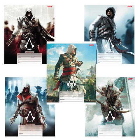 """Тетрадь 18 л., HATBER, клетка, обложка мелованный картон, """"Assassin's Creed"""", 18Т5В1"""