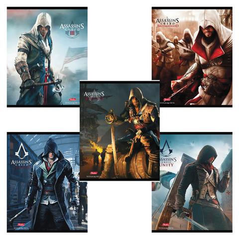 """Тетрадь 24 л., HATBER, клетка, обложка мелованный картон, """"Assassin's Creed"""", 24Т5В1"""