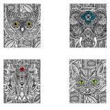 Тетрадь 48 л., HATBER, клетка, обложка мелованный картон, «DOODLE-ART», 48Т5В1
