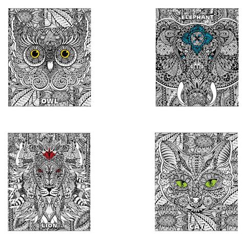 """Тетрадь 48 л., HATBER, клетка, обложка мелованный картон, """"DOODLE-ART"""", 48Т5В1"""