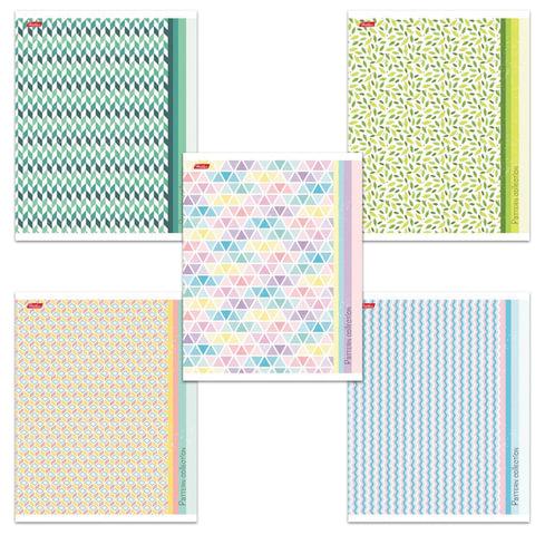 """Тетрадь 48 л., HATBER, линия, обложка мелованный картон, """"Pattern Collection"""", 48Т5В2"""